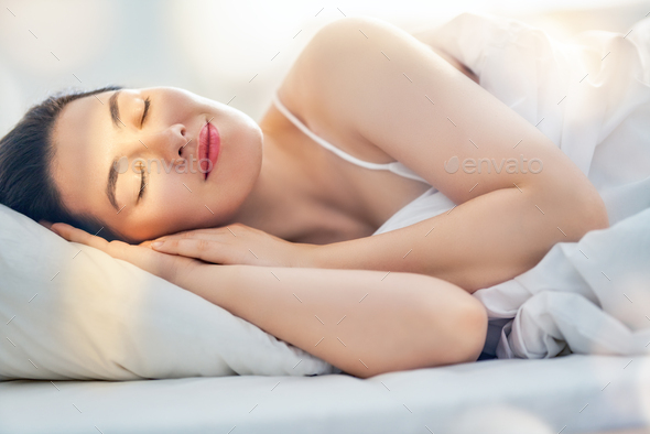 sleeping woman - Stock Photo - Images