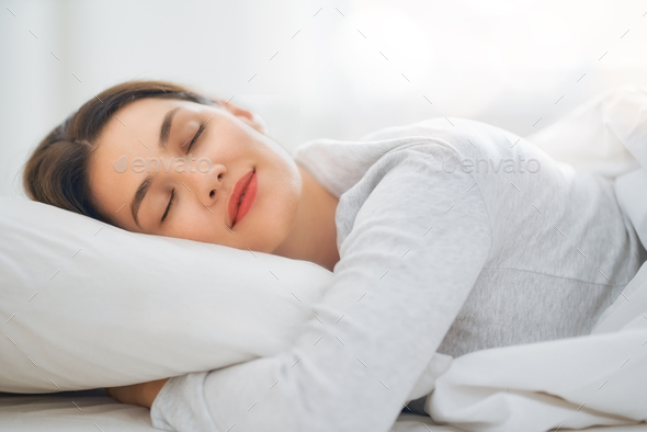 sleeping woman - Stock Photo - Images