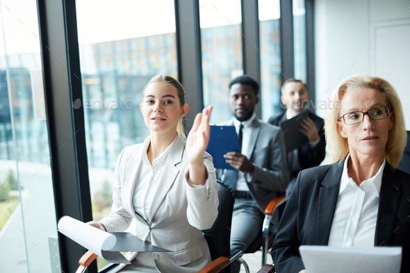 Audience in conference hall - Stock Photo - Images