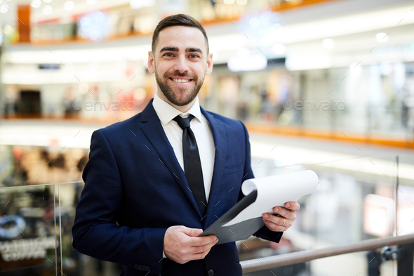 Agent with contract - Stock Photo - Images