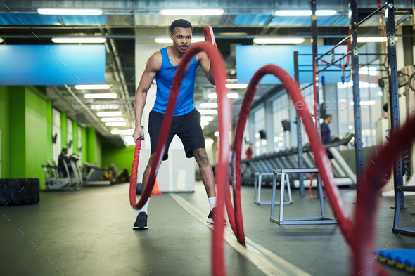 Athlete in gym - Stock Photo - Images