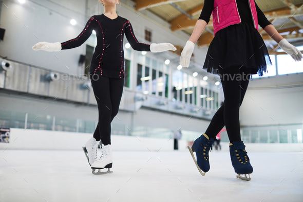 Two Figure Skaters Posing - Stock Photo - Images