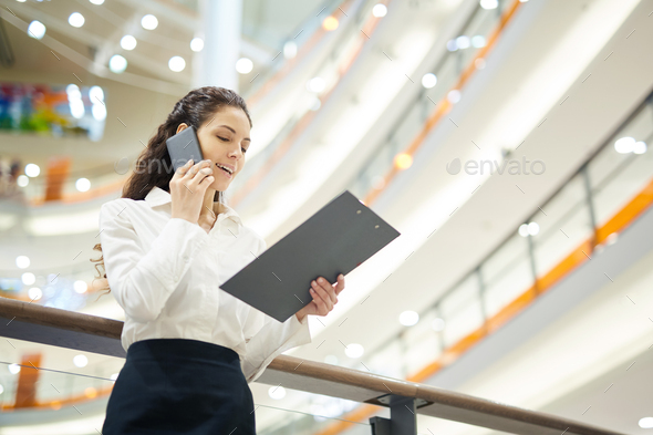 Agent phoning - Stock Photo - Images