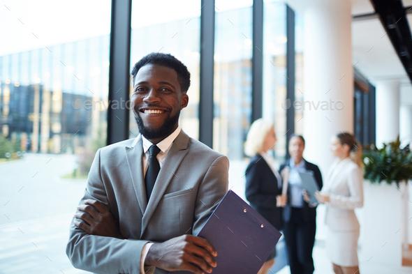 Cheerful broker - Stock Photo - Images