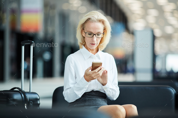 Woman with smartphone - Stock Photo - Images