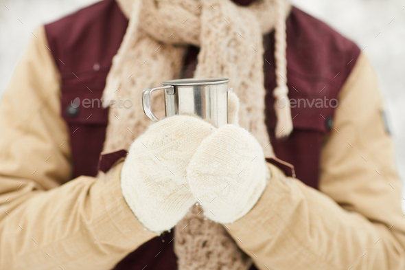 Drinking Cocoa - Stock Photo - Images