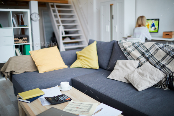 Couch in Living Room - Stock Photo - Images