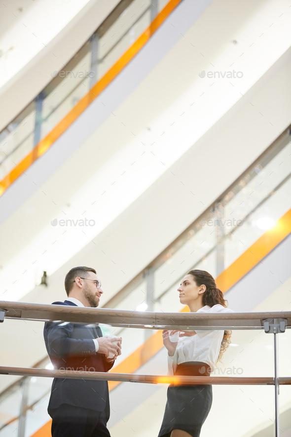 Meeting in the mall - Stock Photo - Images