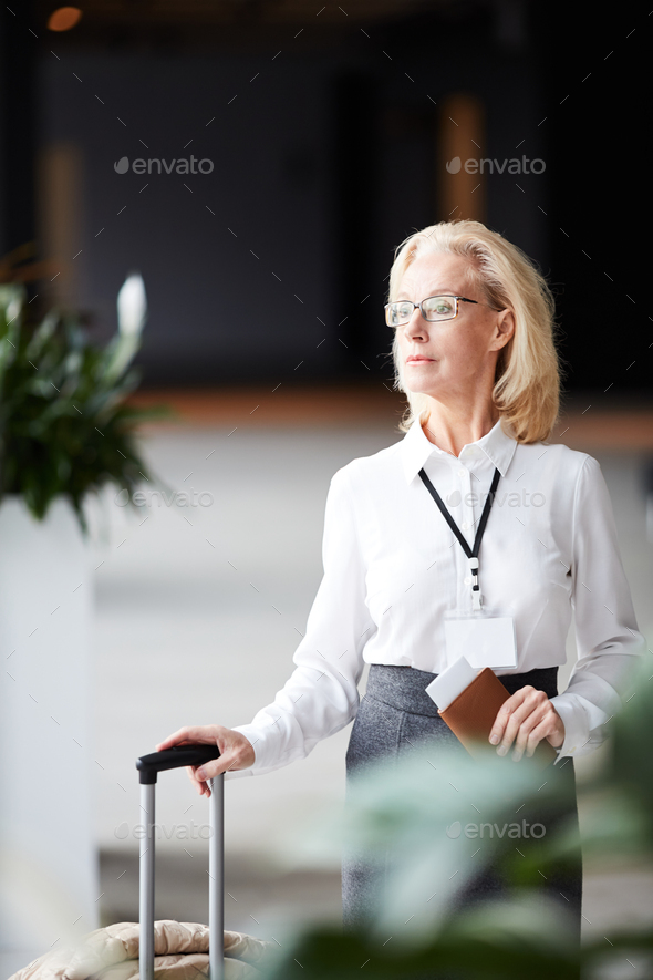 Traveler in lounge - Stock Photo - Images