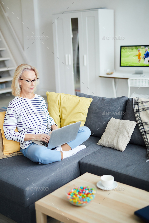 Contemporary Adult Woman at Home - Stock Photo - Images