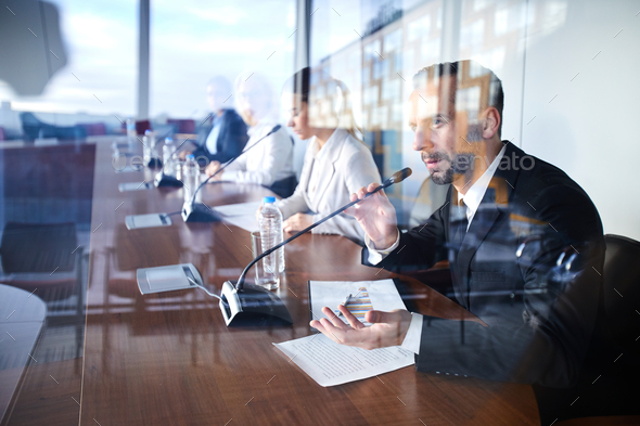 Broker making report - Stock Photo - Images
