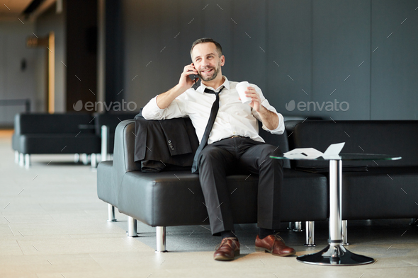 Calling in lounge - Stock Photo - Images