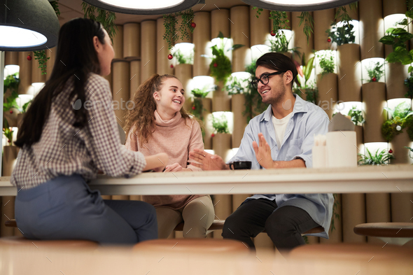 Students talking - Stock Photo - Images
