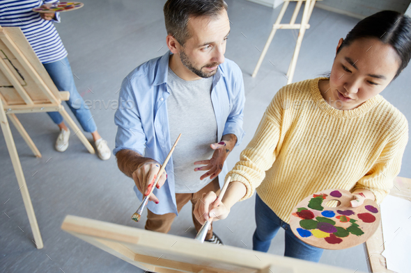 Consultation on painting - Stock Photo - Images