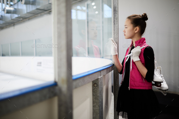 Girl watching Practice - Stock Photo - Images