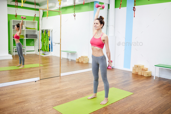 Cheerful Woman Working Out - Stock Photo - Images