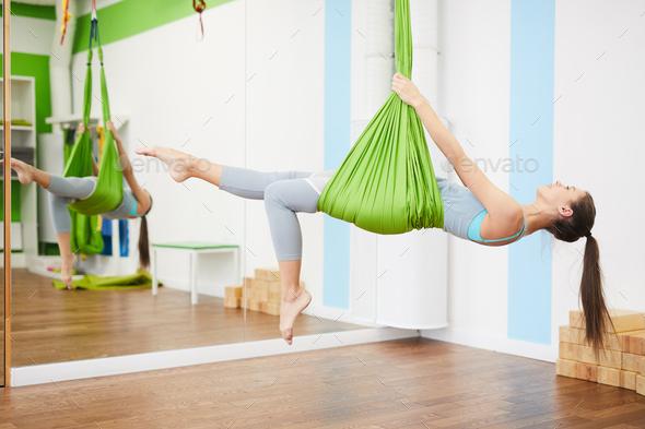 Aero Yoga - Stock Photo - Images
