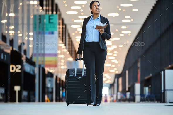 Traveler in airport - Stock Photo - Images
