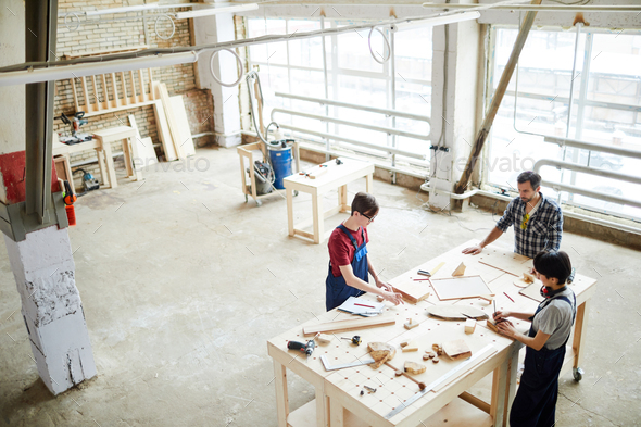 Workspace of carpenters - Stock Photo - Images