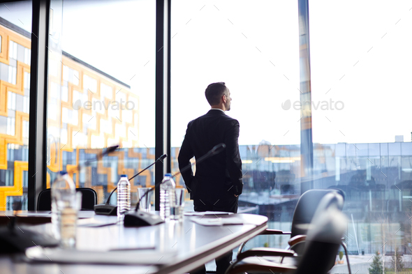 Delegate in conference hall - Stock Photo - Images