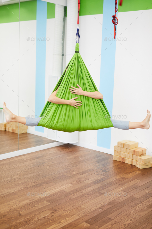 Aerial Yoga - Stock Photo - Images