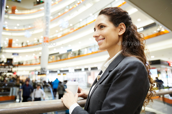 Woman with drink - Stock Photo - Images