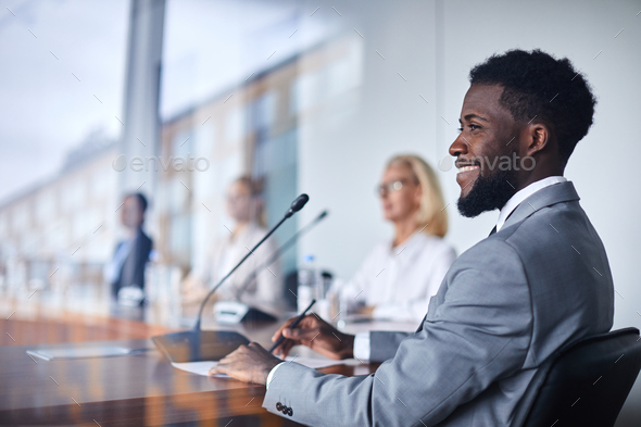 Taking part in conference - Stock Photo - Images