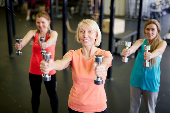 Workout with dumbbells - Stock Photo - Images