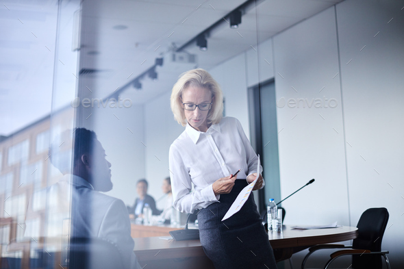 Discussion of report - Stock Photo - Images