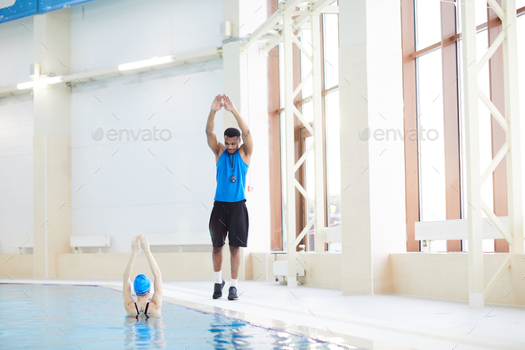 Aqua Fitness in Pool - Stock Photo - Images