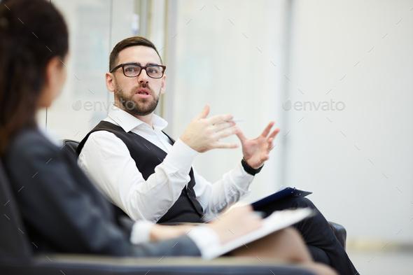 Explaining strategy - Stock Photo - Images