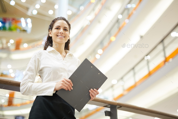 Businesswoman with document - Stock Photo - Images