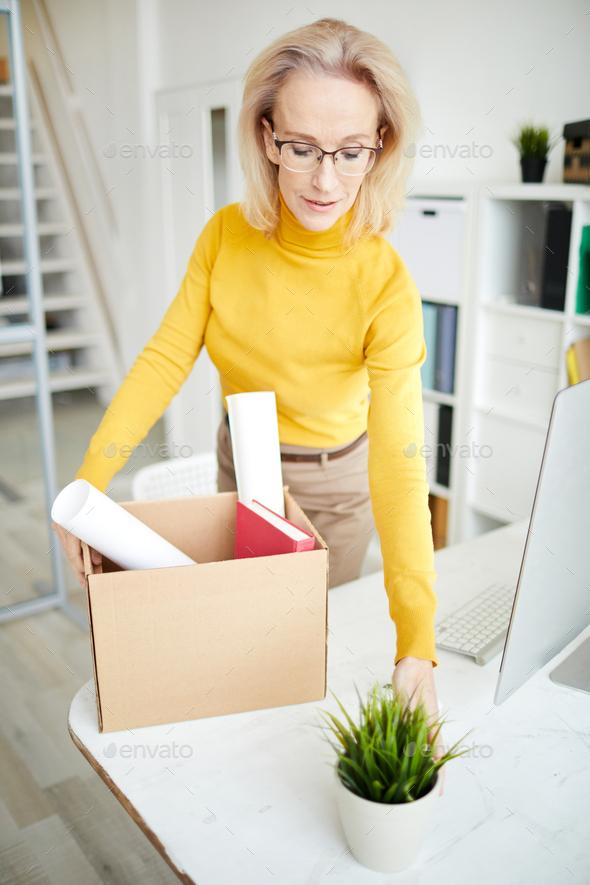 Businesswoman Quitting Job - Stock Photo - Images