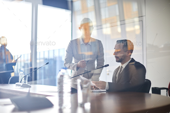 Discussing report - Stock Photo - Images