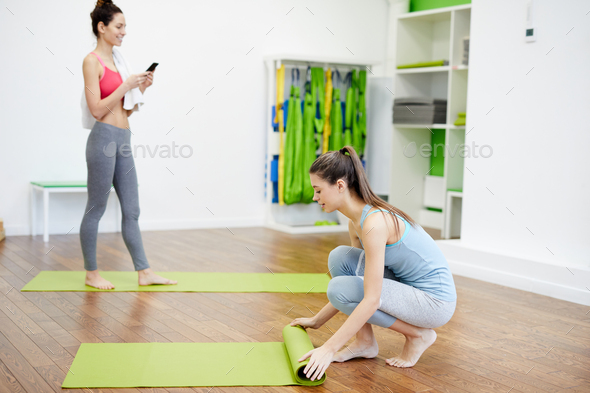 Women Warming Up in Sports Club - Stock Photo - Images
