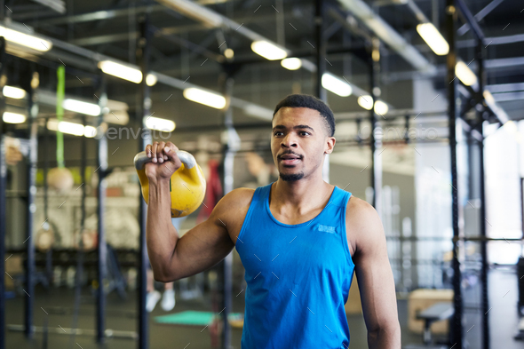 Workout with kettlebell - Stock Photo - Images