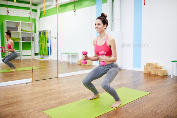 Work Out in Gym - Stock Photo - Images