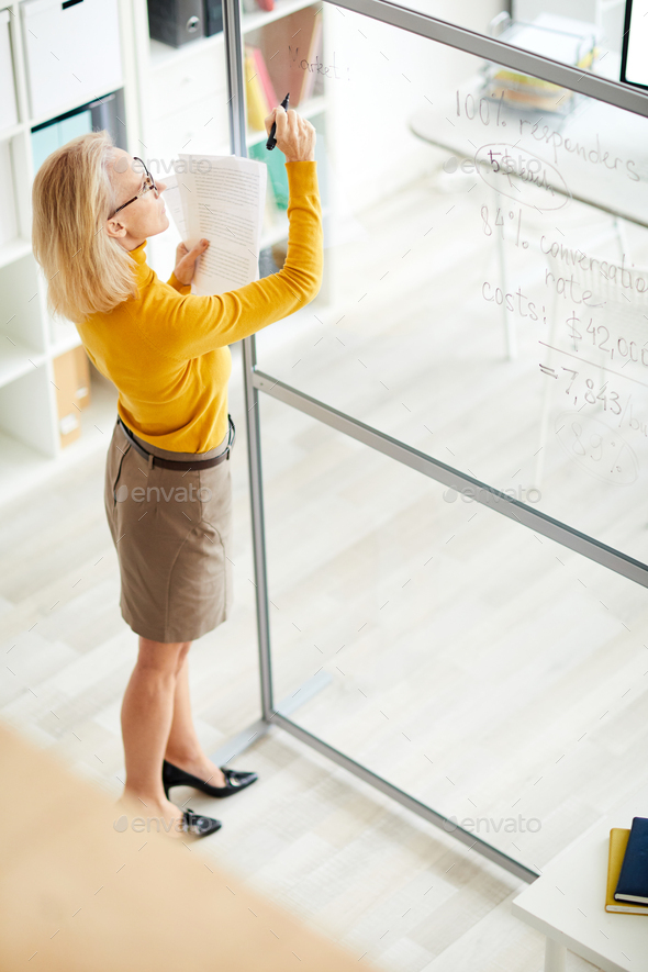 Businesswoman Planning Project - Stock Photo - Images