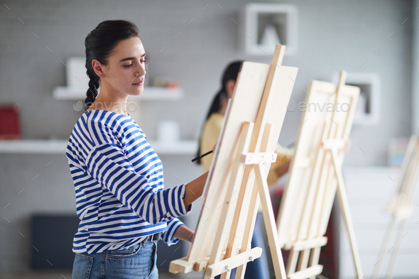Lesson of painting - Stock Photo - Images