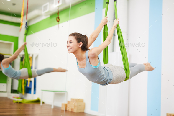 Aerial Exercise - Stock Photo - Images