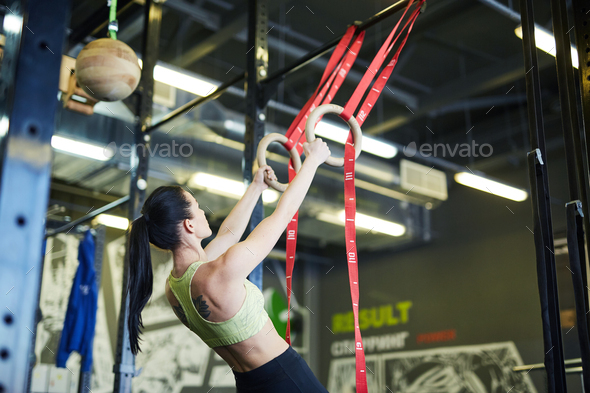 Training with rings - Stock Photo - Images