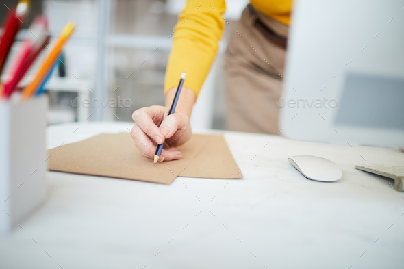 Female Hands Writing - Stock Photo - Images