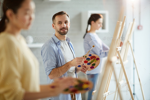 Work in studio of arts - Stock Photo - Images