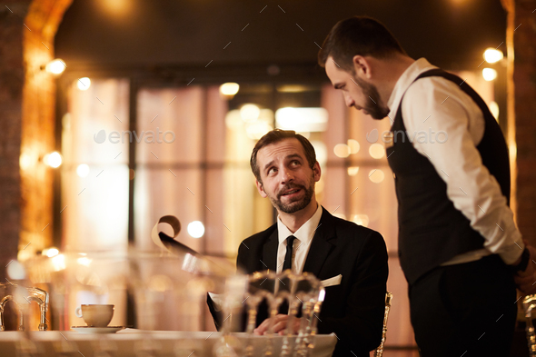 Client Ordering Food in Restaurant - Stock Photo - Images