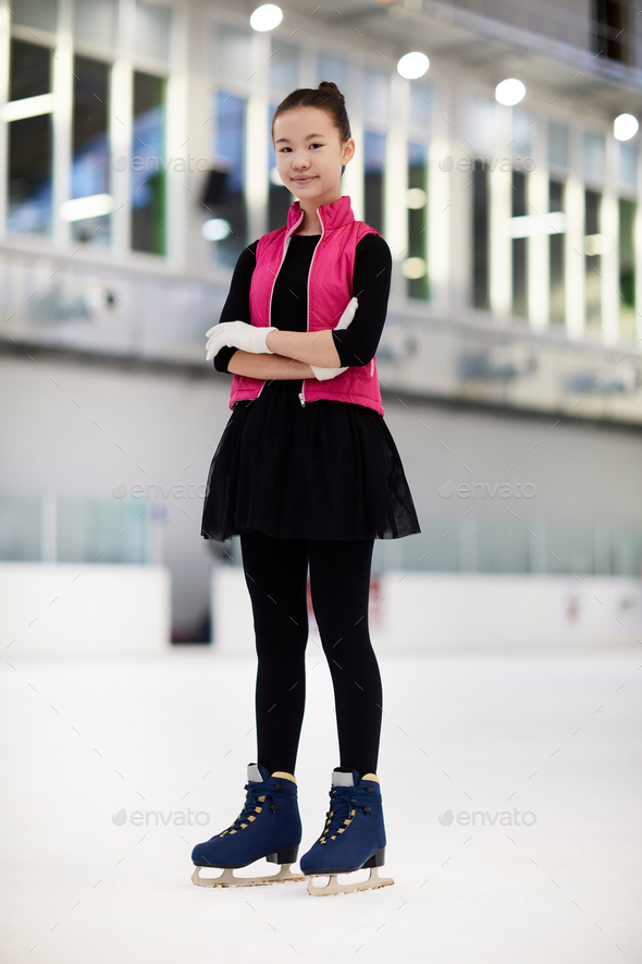 Asian Figure Skater - Stock Photo - Images