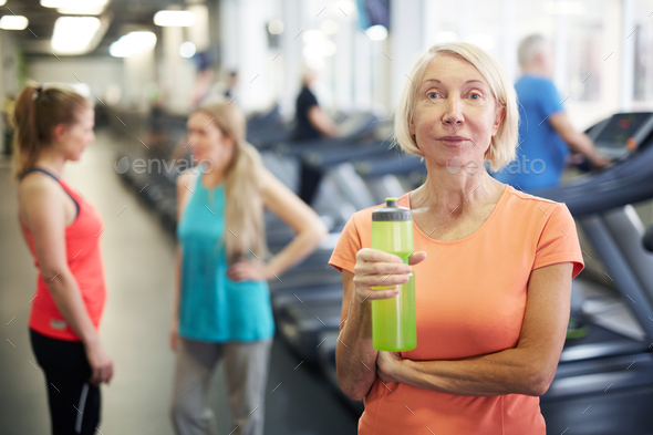 Woman in gym - Stock Photo - Images