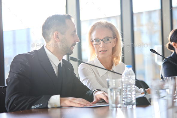 Brokers at conference - Stock Photo - Images