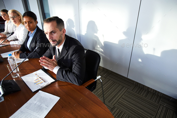 Delegate speaking - Stock Photo - Images