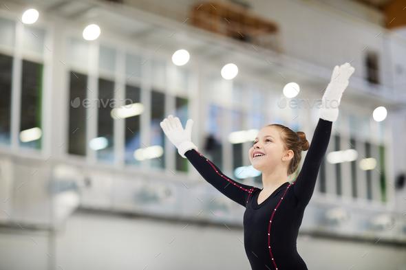 Little Figure Skating Champion - Stock Photo - Images