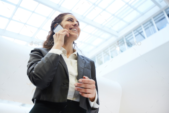 Talking by phone - Stock Photo - Images